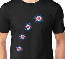 Mod Gun Shot Splatter. Unisex T-Shirt