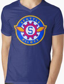 Seattle Pilots Mens V-Neck T-Shirt