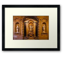 Reliefs from the Renaissance period in Milan, ITALY Framed Print