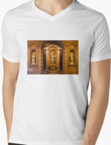 Reliefs from the Renaissance period in Milan, ITALY Mens V-Neck T-Shirt