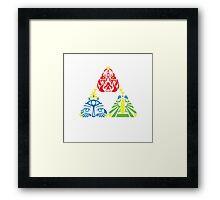 Triforce 2.0 sageless Framed Print