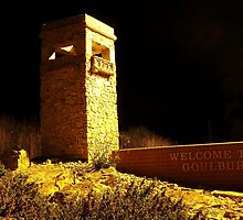 Welcome to Goulburn (southern entrance at night) by DashTravels