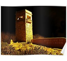 Welcome to Goulburn (southern entrance at night) Poster