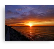 Sunrise on the Courtney Campbell Causeway Canvas Print