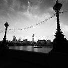 Big Ben B&W@Dawn by lallymac