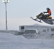Snow mobile racing by Vanessa Truter