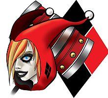 Harley Quinn Portrait by BladeSummers