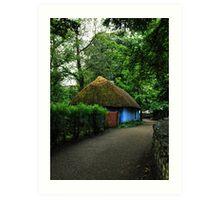 blue cottage.. Art Print