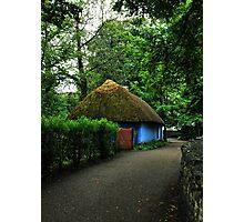 blue cottage.. Photographic Print