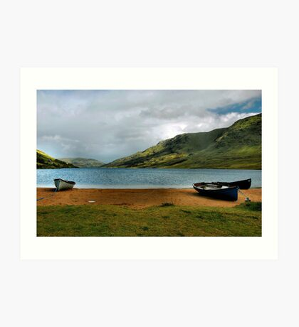 fishing at lough na fooey.. Art Print