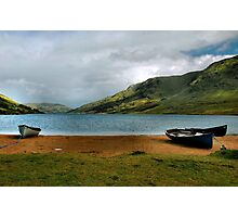 fishing at lough na fooey.. Photographic Print