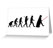 Darth Vader Evolution Greeting Card