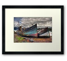 Salen ship wrecks Framed Print