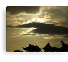 striking sunset Canvas Print