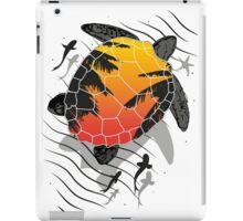 Red sun floating turtle  iPad Case/Skin
