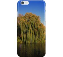 Weeping Willow Tree by the canal iPhone Case/Skin