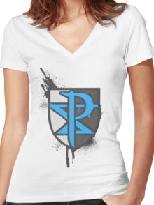 Team Plasma Crest Women's Fitted V-Neck T-Shirt