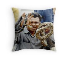 Snake Charmer - SIngapore Throw Pillow