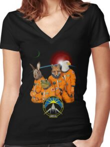 The Lylat Space Program Women's Fitted V-Neck T-Shirt