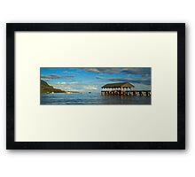 Morning Light On The Hanalei Pier Framed Print