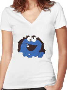 cookie monsta Women's Fitted V-Neck T-Shirt