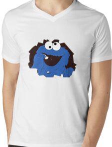 cookie monsta Mens V-Neck T-Shirt