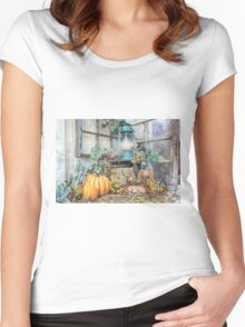 Autumn Gathering Women's Fitted Scoop T-Shirt