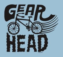 Gearhead -  black   One Piece - Short Sleeve