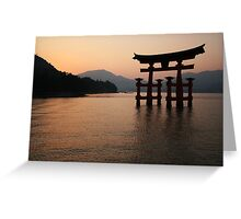 Floating Torii Greeting Card