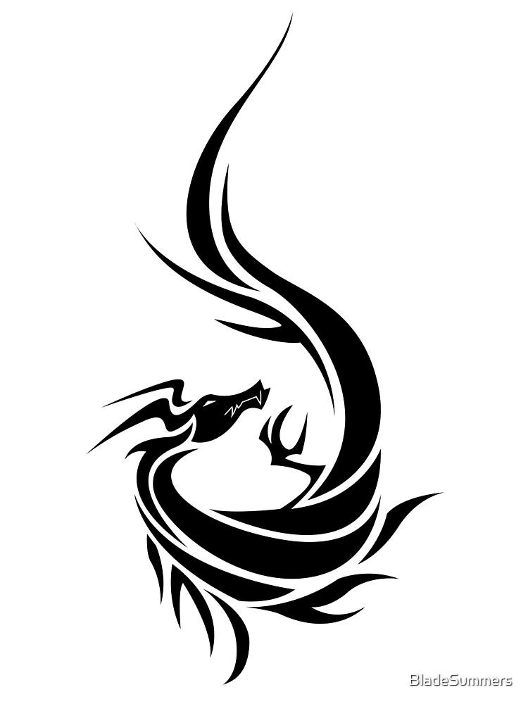 Tribal Dragon (black) by BladeSummers