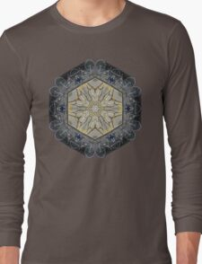 BICYCLE WITH GOLD BRANCHES II MANDALA Long Sleeve T-Shirt