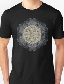 BICYCLE WITH GOLD BRANCHES II MANDALA Unisex T-Shirt