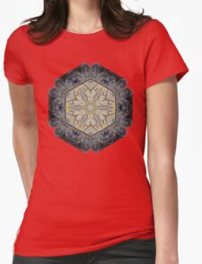 BICYCLE WITH GOLD BRANCHES II MANDALA Womens Fitted T-Shirt