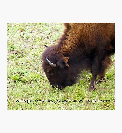 Texan Proverb Photographic Print