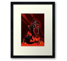 The Black Queen's Rook Framed Print