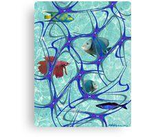"""Starfish Polka"" Canvas Print"
