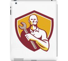 Mechanic Holding Wrench Shield Retro iPad Case/Skin
