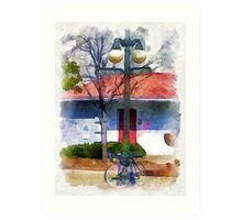 Corner of Screven and Front Art Print