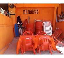 Orange Cafe  Photographic Print