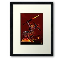The Black King's Knight Framed Print