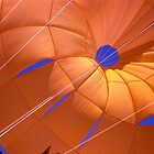 Orange parachute by richard  webb