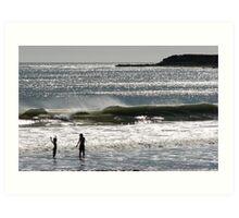 Santa Barbara Sun Splash Art Print