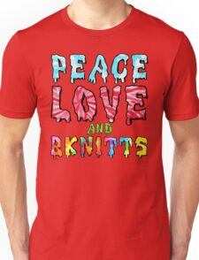Peace Love and BKnitts Unisex T-Shirt