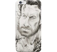 'Rick & Carl' caricature art by Sheik iPhone Case/Skin