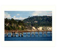Goleta Beach Pier Art Print