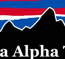 Kappa Alpha Theta Red White and Blue Sticker