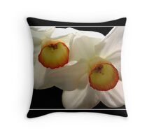 White Jonquils/Daffodils Throw Pillow
