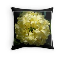 White Hyacinth Throw Pillow