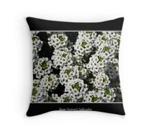 White Alyssum Throw Pillow