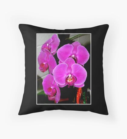 Purple Orchids #2 Throw Pillow